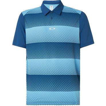 Oakley Gents Dot Stripes Polo Blue 98B
