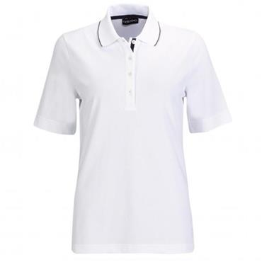 Golfino Ladies Under the Sea Polo Shirt White