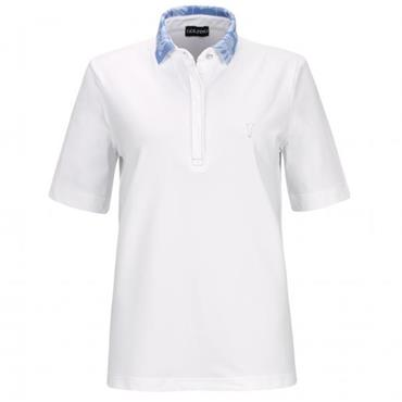 Golfino Ladies Palm Beach Short Sleeve Polo Shirt White