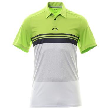 Oakley Gents Colour Block Take Polo Shirt Lime Green
