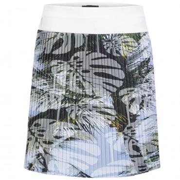 Golfino Ladies Palm Beach Pleated Skort White