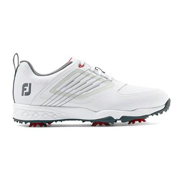 FootJoy Junior Fury Shoes White - Silver