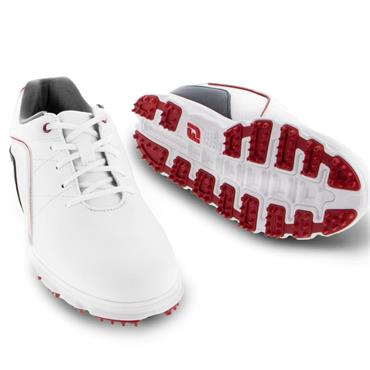 FootJoy Junior Spikeless Shoes White - Navy - Red