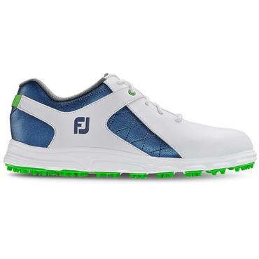 FootJoy Junior Pro SL Golf Shoes White - Blue