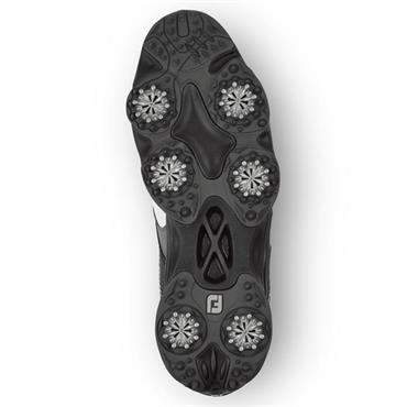 FootJoy Gents Originals Spiked Golf Shoes Medium Fit White - Black - Grey