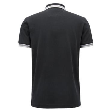 Hugo Boss Gents Regular Fit Polo Shirt With Three-Button Placket Black