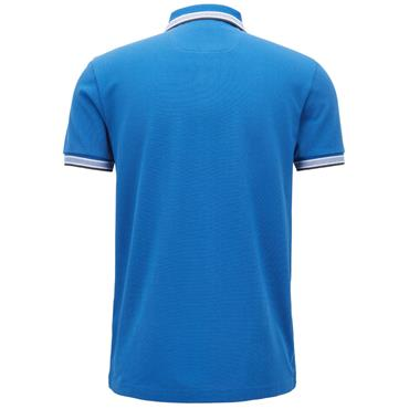 Hugo Boss Gents Regular Fit Polo Shirt With Three-Button Placket Blue
