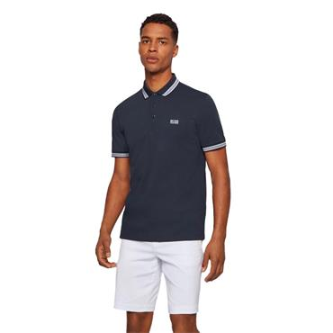 BOSS Gents Regular Fit Polo Shirt With Three-Button Placket Navy