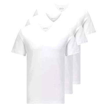 BOSS Gents V Neck T-Shirt 3 Pack White