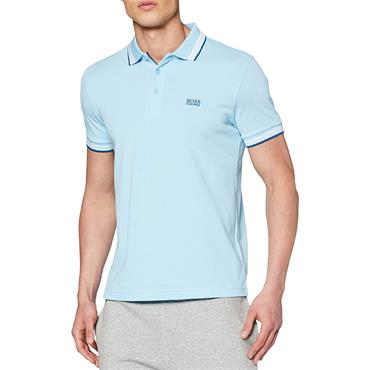 BOSS Gents Cotton-Pique With Logo Under Collar Paddy Polo Shirt Blue 404