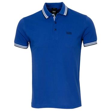 Hugo Boss Gents Cotton-Pique With Logo Under Collar Paddy Polo Shirt Blue