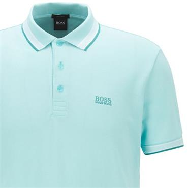 BOSS Gents Cotton-Pique With Logo Under Collar Paddy Polo Shirt Blue 489