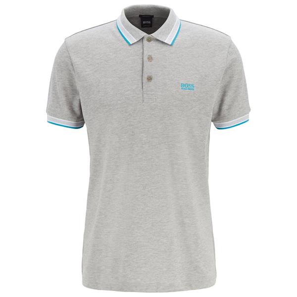 8ddcd542690 Hugo Boss Gents Cotton-Pique With Logo Under Collar Paddy Polo Shirt Grey