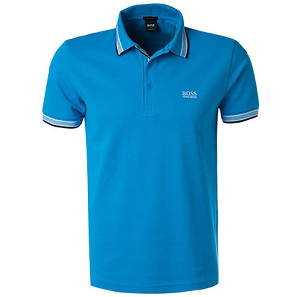 89c7f8928 Hugo Boss Gents Cotton-Pique With Logo Under Collar Paddy Polo Shirt Light  Blue