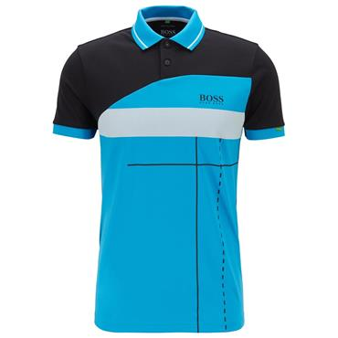 Hugo Boss Gents Martin Kaymer Polo Shirt With Dynamic Artwork Black