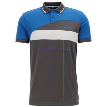 Hugo Boss Gents Martin Kaymer Polo Shirt With Dynamic Artwork Blue