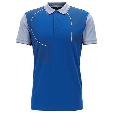 BOSS Gents Paddy Pro 2 Regular Polo Shirt in Moisture-Wicking Fabric Blue