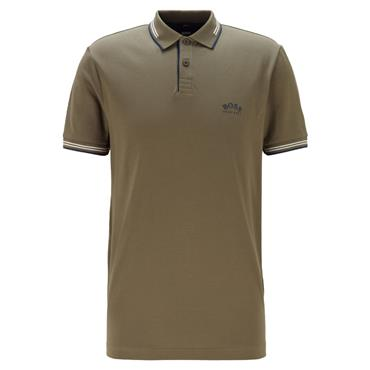 BOSS Gents Paul Curved Polo Shirt Dark Green 302