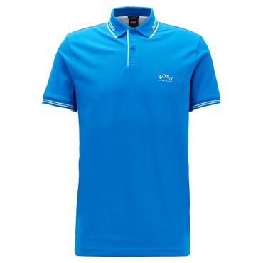 BOSS Gents Paul Curved Polo Shirt Mid Blue 439