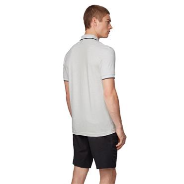 BOSS Gents Paul Curved Polo Shirt Mid Grey 052