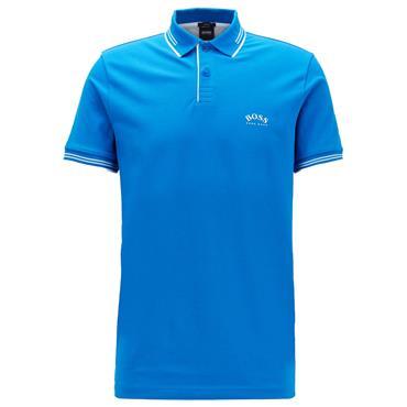 Hugo Boss Gents Paul Curved Polo Shirt Blue