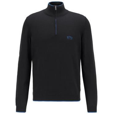 Hugo Boss Gents Ziston 1/4 Zip Sweater Black