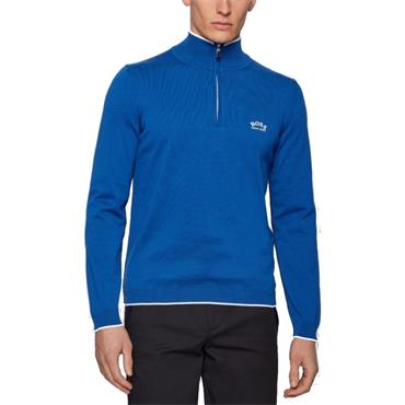 BOSS Gents Ziston Sweater Mid Blue
