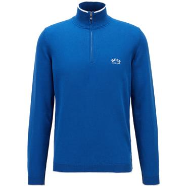 BOSS Gents Ziston Sweater Mid Blue