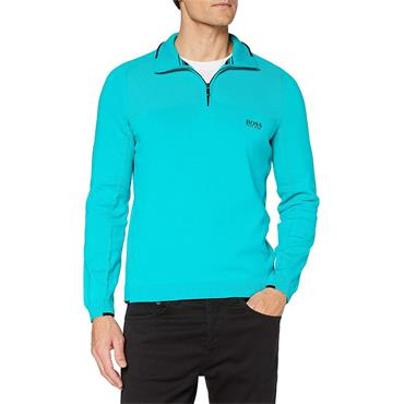 BOSS Gents Zescon Zip Neck Sweater Medium Green
