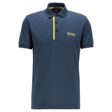 BOSS Gents Pauletech 1 Slim Polo Shirt Navy 410