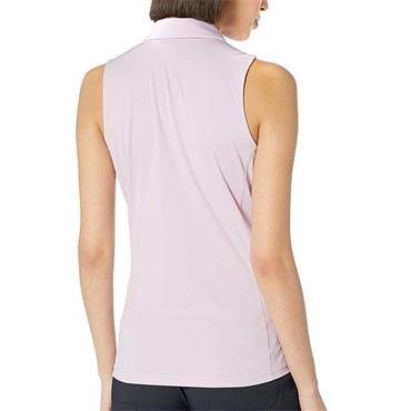 J.Lindeberg Ladies Dena Sleeveless Polo Shirt Rose