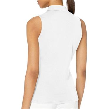 J.Lindeberg Ladies Dena Sleeveless Polo Shirt White