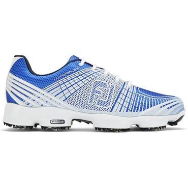 FootJoy Gents Hyperflex II Shoes Medium Fit  White - Blue