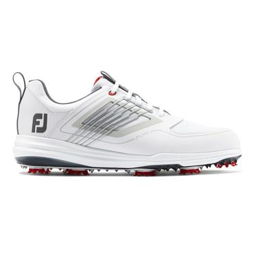FootJoy Gents Fury Golf Shoes Medium Fit White - Red