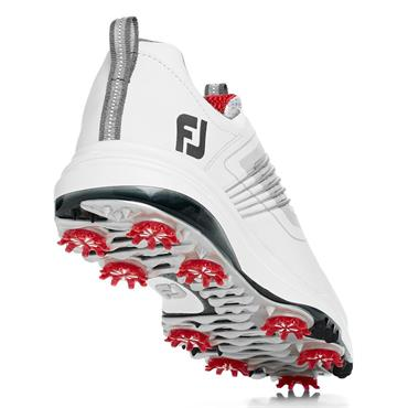 FootJoy Gents Fury Golf Shoes Wide Fit White - Red