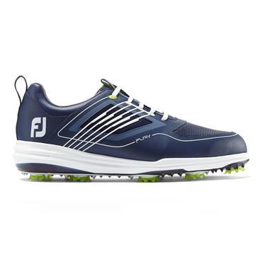 FootJoy Gents Fury Golf Shoes Medium Fit Navy - White