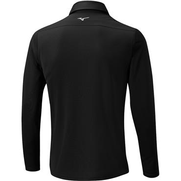 Mizuno Gents Breath Thermo Long Sleeve Polo Black