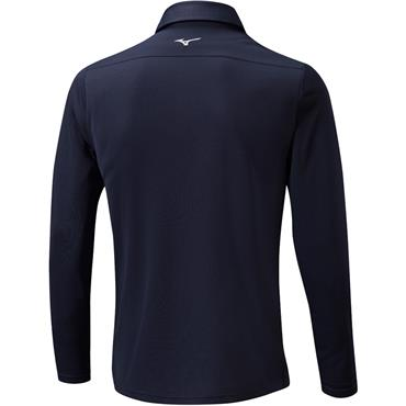 Mizuno Gents Breath Thermo Long Sleeve Polo Deep Navy