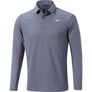 Mizuno Gents Breath Thermo Long Sleeve Polo Grey