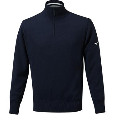 Mizuno Gents Windproof Lined Sweater Deep Navy