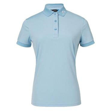J.Lindeberg Ladies Tour Tech Slim Tx Jersey Polo Shirt Blue