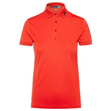 J.Lindeberg Ladies Tour Tech Slim Tx Jersey Polo Shirt Orange