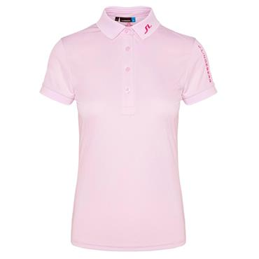 J.Lindeberg Ladies Tour Tech Slim Tx Jersey Polo Shirt Rose