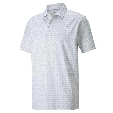 Puma Gents MATTR Carts Polo Shirt High Rise - Bright White
