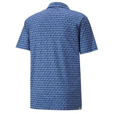 Puma Gents MATTR Carts Polo Shirt Mazarine Blue - Placid Blue