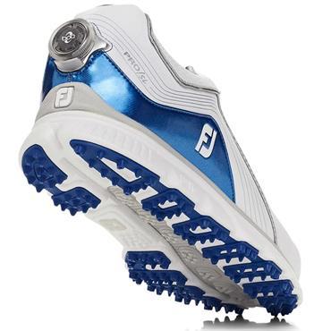 FootJoy Gents Pro SL BOA Golf Shoes Medium Fit White - Blue