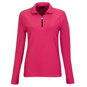Golfino Ladies Alessia Techno Wool Sweatshirt with Cold Protection Function Magenta