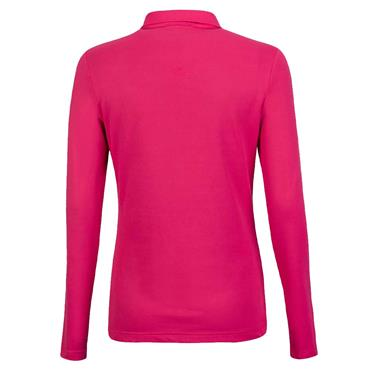 Golfino Ladies Long Sleeve Golf Troyer with Moisture Management Magenta
