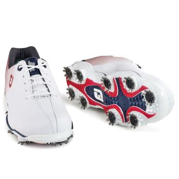FootJoy Gents DNA Helix Golf Shoes Medium Fit White - Red - Blue