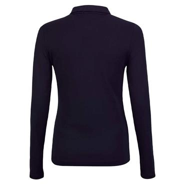 Golfino Ladies Long Sleeve Golf Troyer with Moisture Management Navy